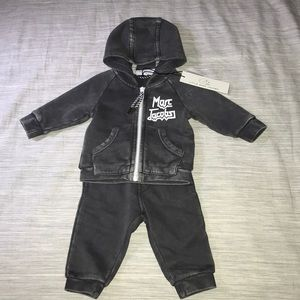 Marc Jacobs Matching Sets - Marc Jacobs Baby Boy Gray Hoodie and Pants